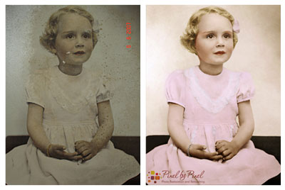 Photo restoration plus colourisation