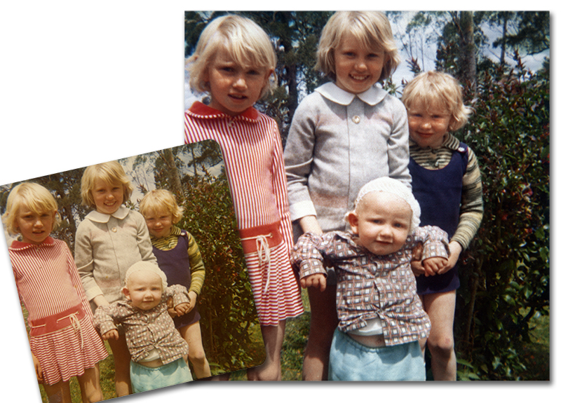Simple photo restoration. Correcting colour casts in old photos