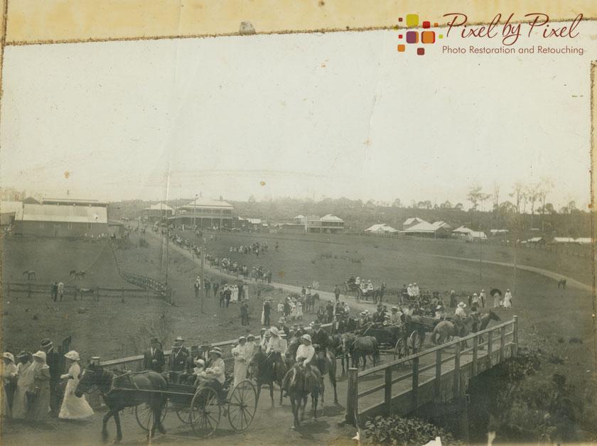 Recruiting/enlistment event at Dorrigo, NSW in 1915. Original Image