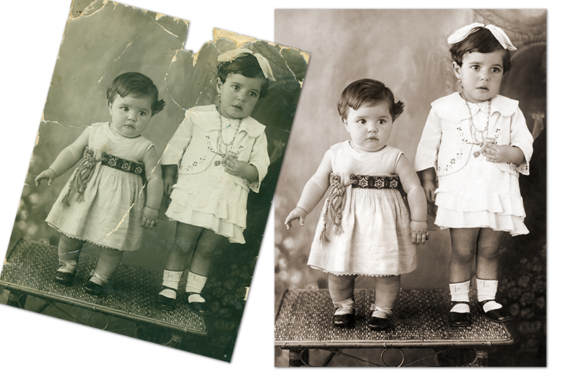 Moderate photo restoration by Carol Heath, Pixel By Pixel, Melbourne