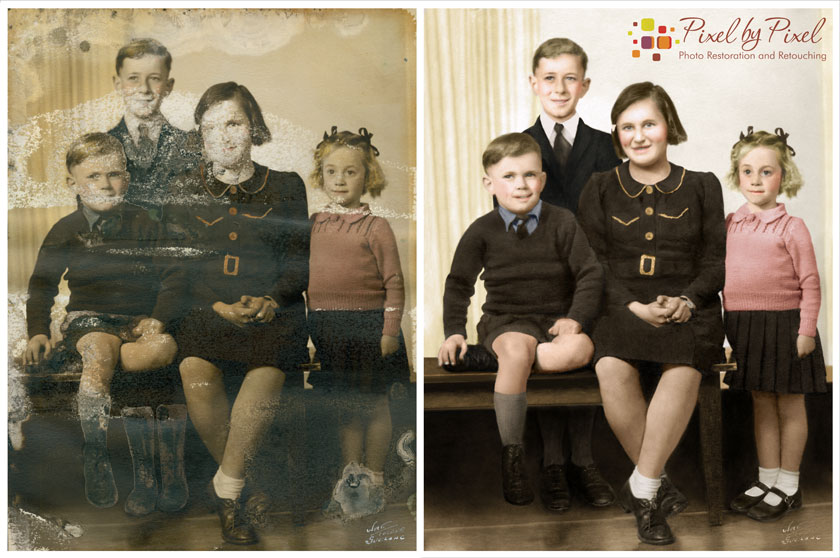 Photo Restoration bY Carol Heath, Pixel By Pixel, Melbourne, Australia