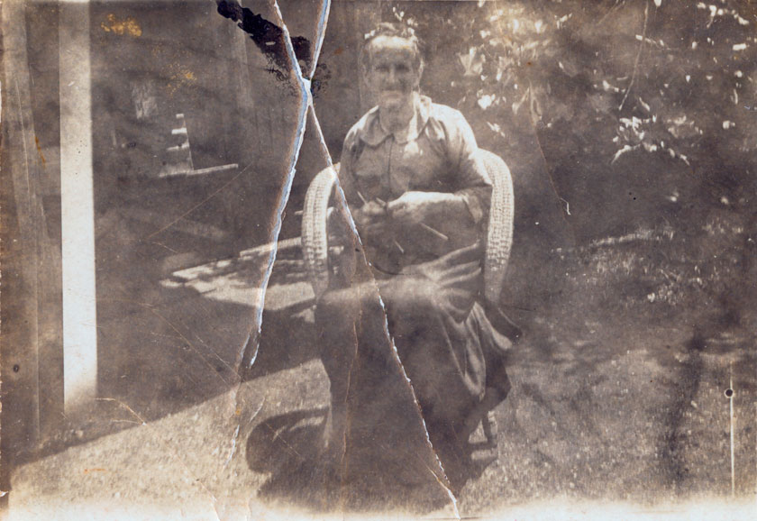 original image of Grandy Watson, in need of restoration