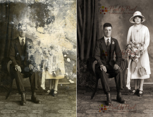 Difficult Photo Restoration: Sometimes scary!