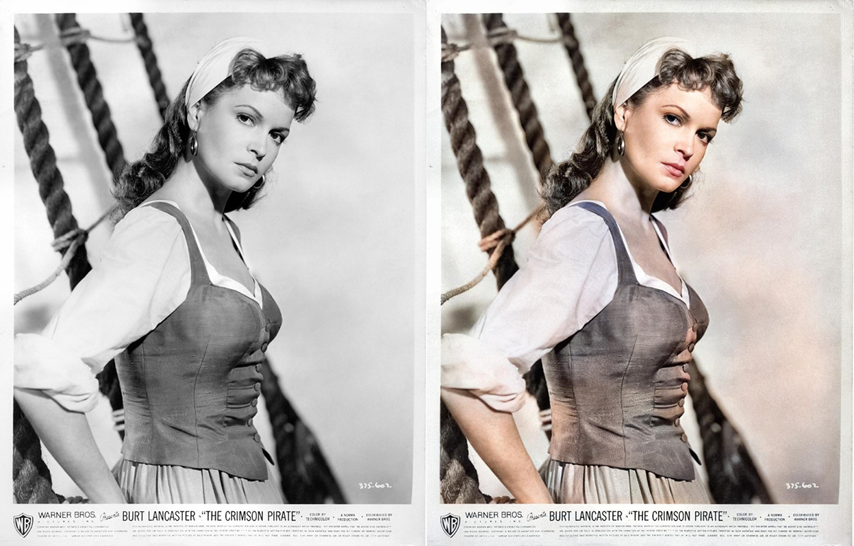 Photo colourisation using Colorize SG