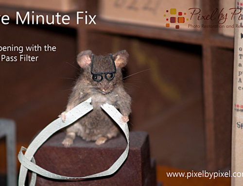 Five Minute Fix:  Sharpening with the High Pass Filter